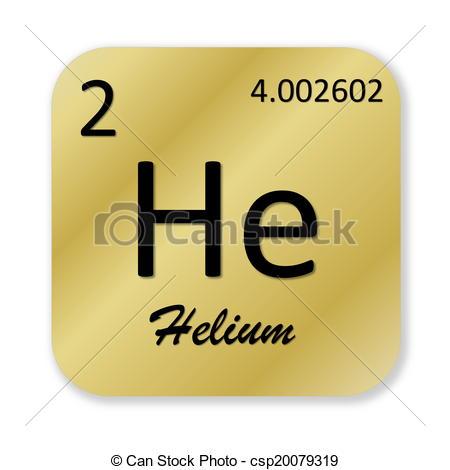 Element clipart helium Of golden golden  element