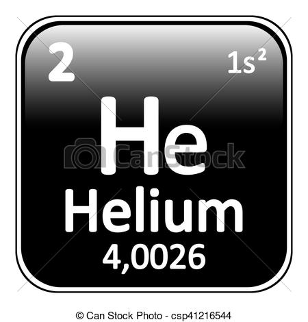 Element clipart helium Table Periodic EPS icon element