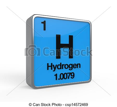 Elements clipart hydrogen  isolated Carbon on Table