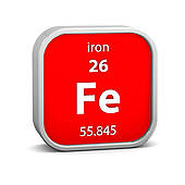Element clipart iron Atom Stock Illustrations GoGraph material