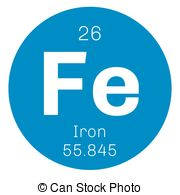 Element clipart iron Chemical iron Stock Illustrations of