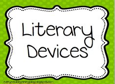 Element clipart literary device Literary (12+) Literary Devices figurative
