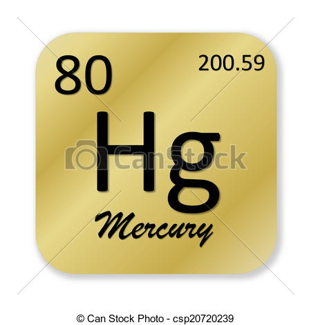Element clipart mercury Csp20720239 golden into element element