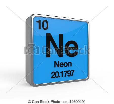 Element clipart neon Neon  on Periodic csp14600491