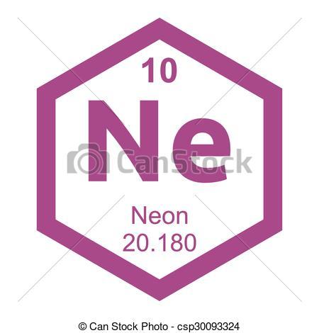 Element clipart neon Periodic a on Neon Clip