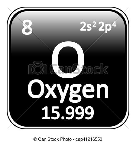 Element clipart oxygen Periodic Clipart table element csp41216550