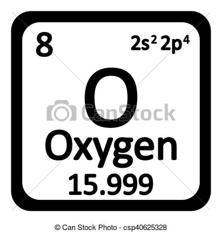 Element clipart oxygen Periodic Vector table element csp40625328