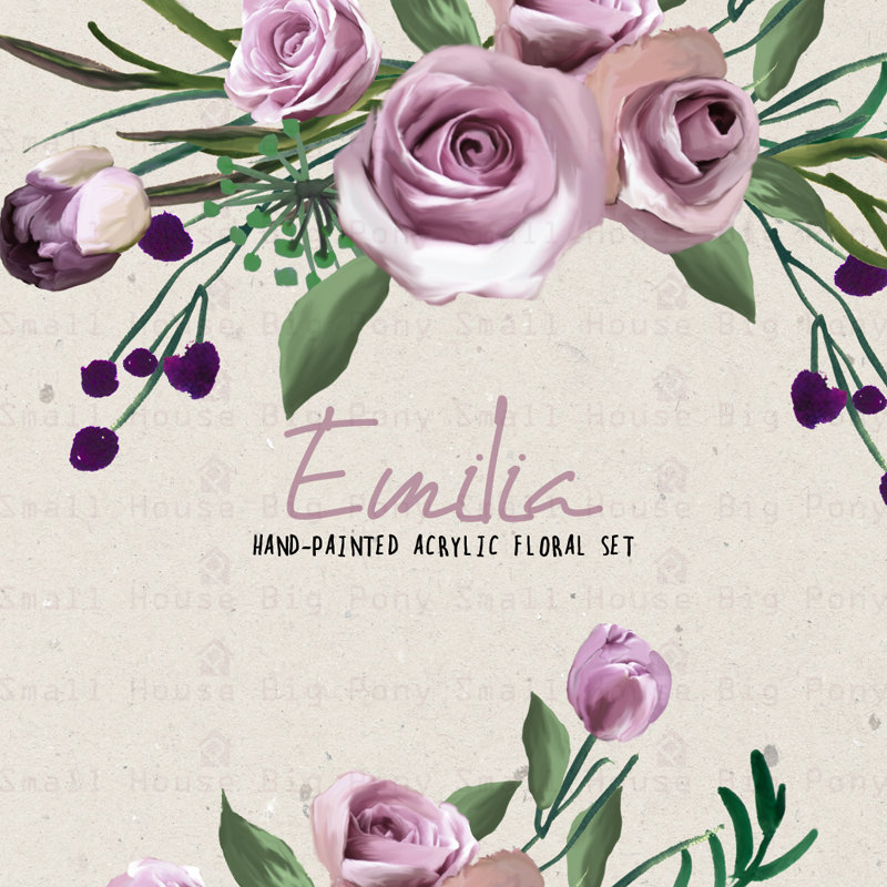 Element clipart purple watercolor floral Clipart Clip Like Clipart Flower