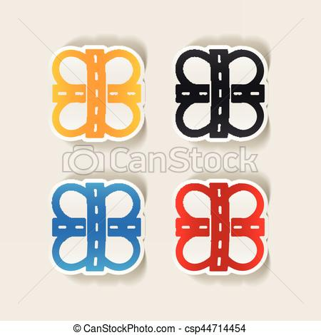 Element clipart road Road csp44714454 design element: Vector