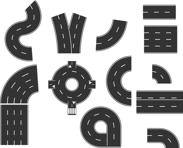 Element clipart road Design vector) download (998 Road