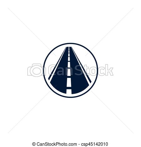 Element clipart road In element on logotype with