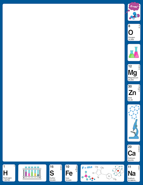 Element clipart science Art science art Border at