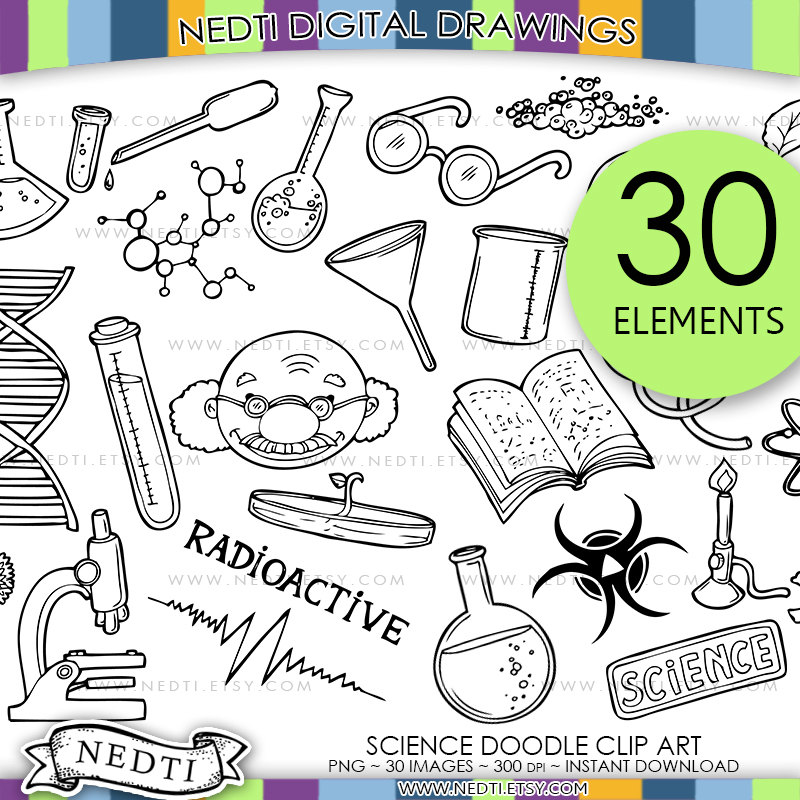 Science clipart doodle #3