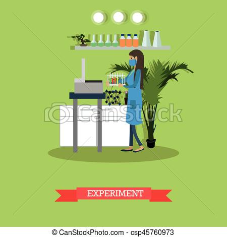 Element clipart scientific experiment Experiment style vector vector