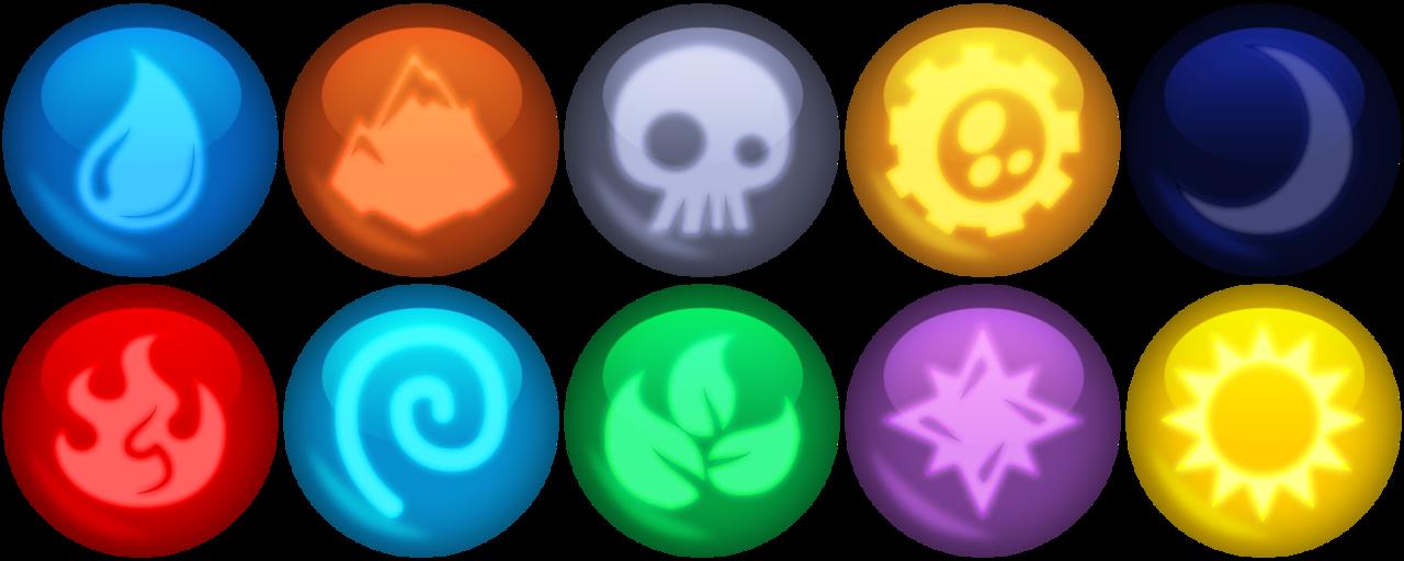 Element clipart skylander Xelku9 gems Elemental Skylanders by
