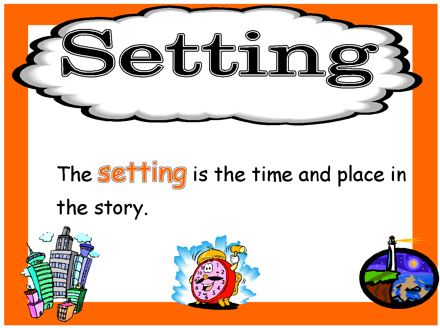 Community clipart story setting Story Clip Art  A