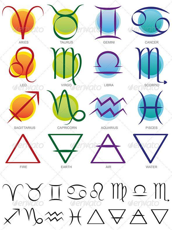 Elements clipart symbol Best on Zodiac images Elements