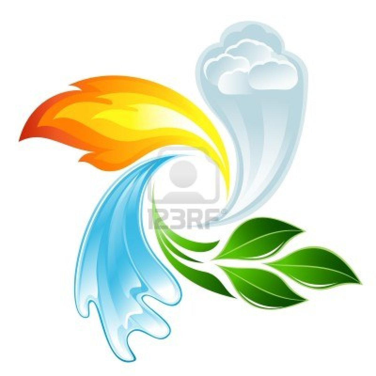 Elements clipart symbol Vector Earth Stock The Wind