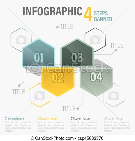 Elements clipart title banner Infographic banner with  Infographic