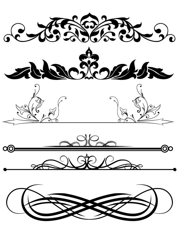 Elements clipart transparent Divider Mix Elements from Background