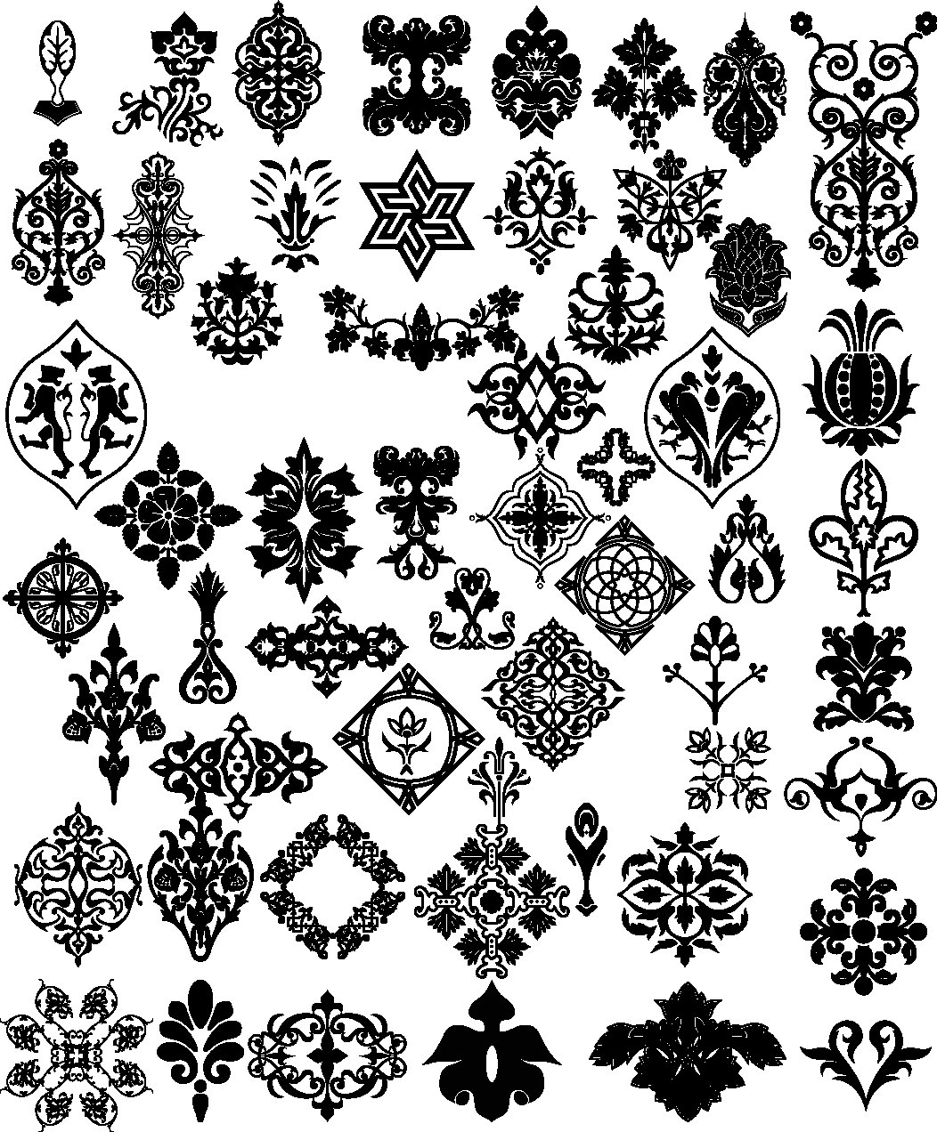 Floral clipart ornamental Vintage Vector Instant Vector Clipart