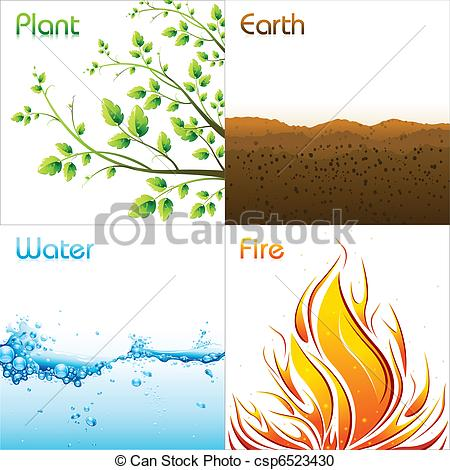 Elements clipart drawing Illustration csp6523430 of Elements Earth