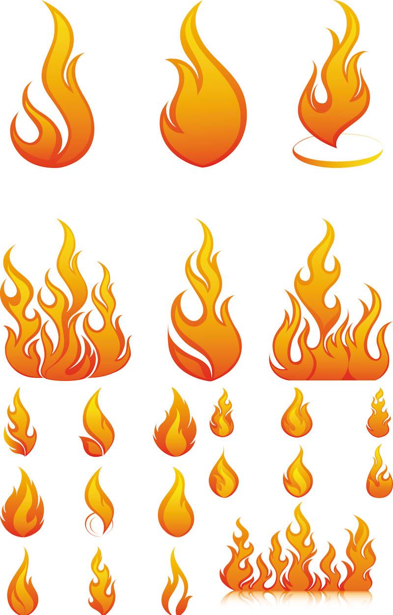 Elements clipart drawing Fire Flames elements sets Clip