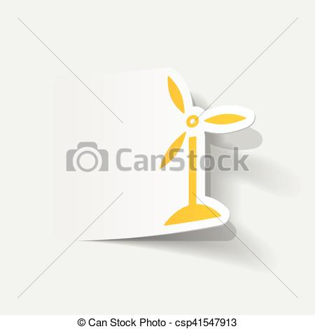 Element clipart wind Turbines Vector realistic Clip element: