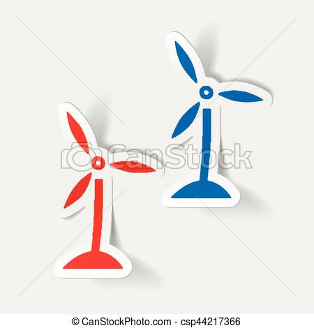 Element clipart wind Turbines Clip realistic Art element: