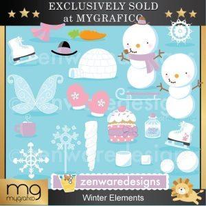 Element clipart winter 8 Winter Mygrafico Clipart Page