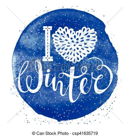 Element clipart winter Lettering  lettering I Clip