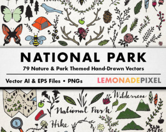 Element clipart winter & Nature Design Camping Resources