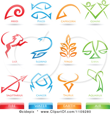 Horoscope clipart celtic Astrology element Fire Icons Clipart