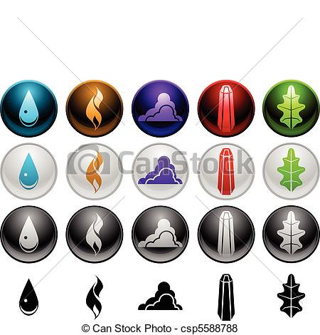 Elemental clipart In Element four of Vector