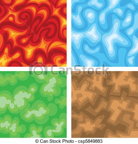 Elemental clipart banner design Backgrounds Elemental Set four