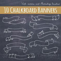 Elemental clipart banner design Elements Banners //  Chalk