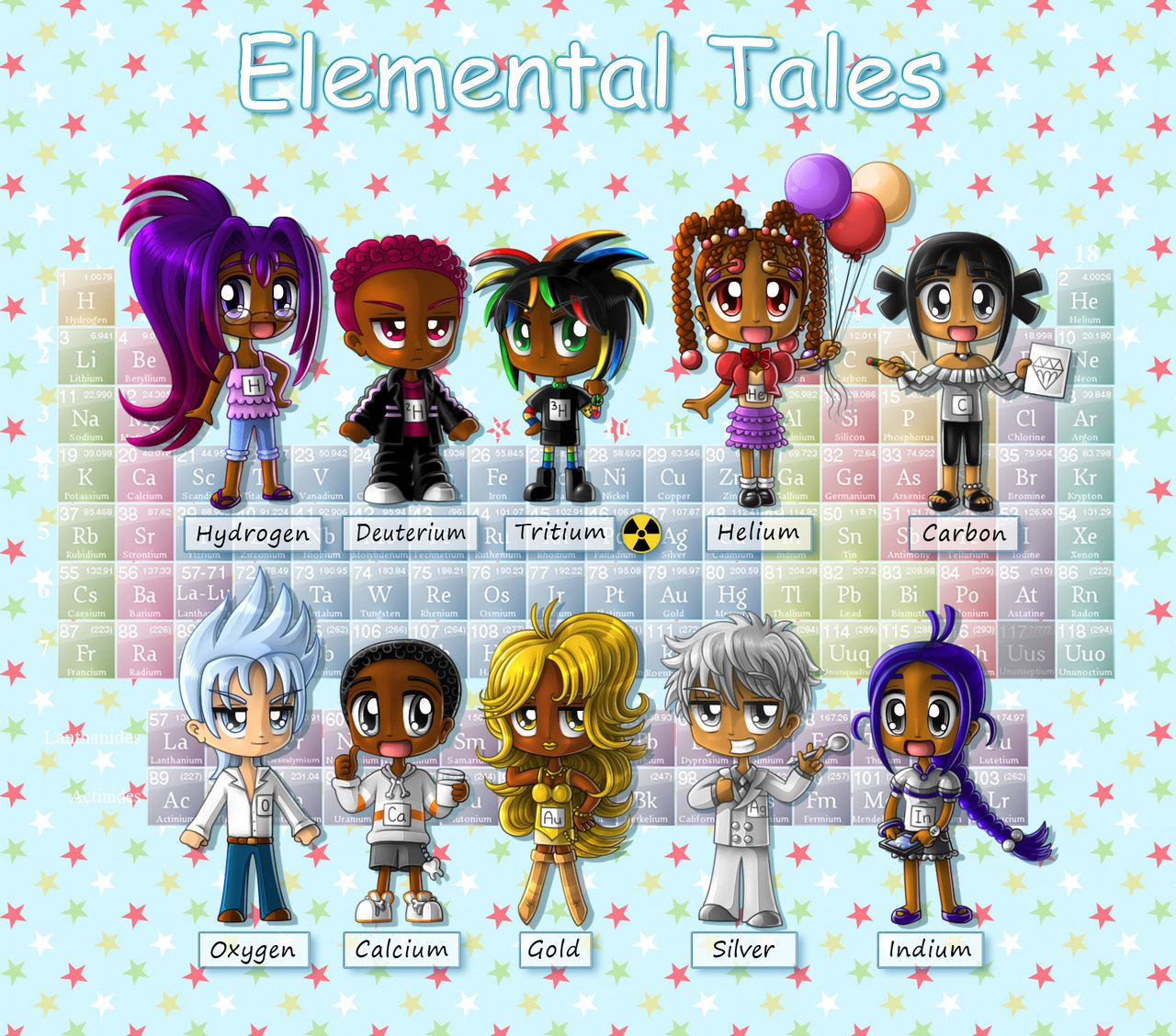 Elemental clipart character story #9