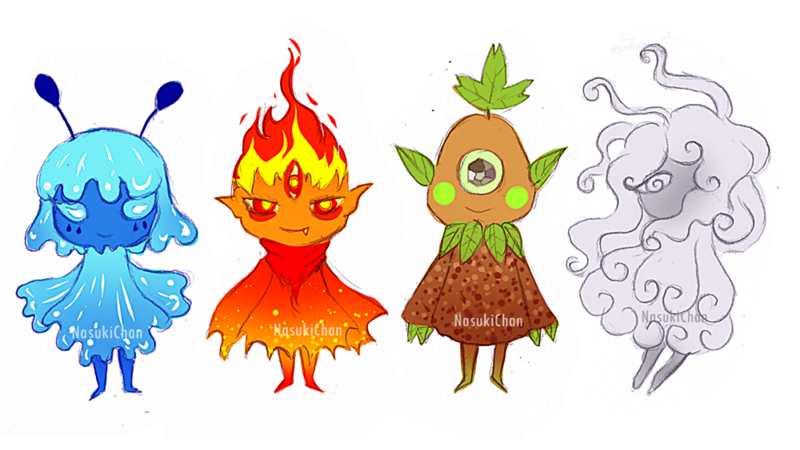 Elemental clipart character story #8