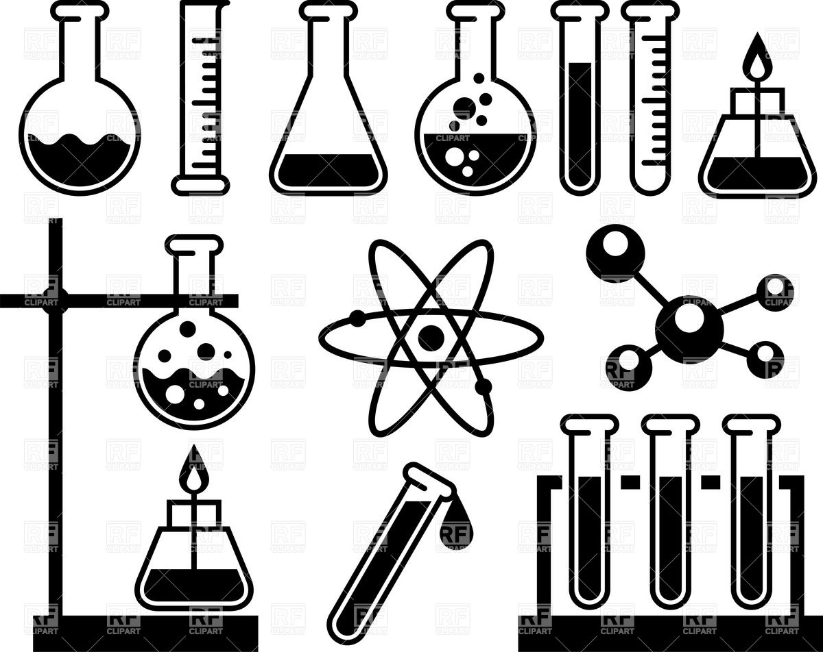 Science clipart silhouette Chemistry 717 scientific white apparatus