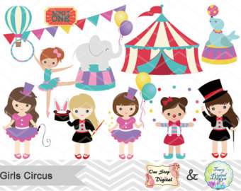 Circus clipart girly  Digital Download art Boys