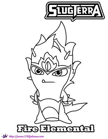 Elemental clipart color Page SKGaleana from Slug Elemental