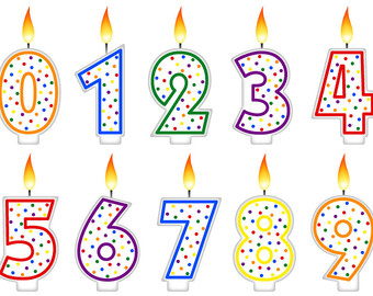 Elemental clipart communion Birthday Candles Element Number Clipart