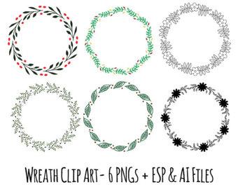 Elemental clipart decoration vector Elements Clip Clip Wreath Clip