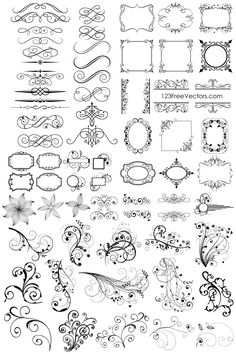 Elemental clipart decoration vector Vintage Vector elements E Floral