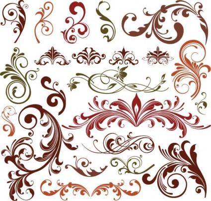 Elemental clipart decoration vector  renaissance floral ready designs