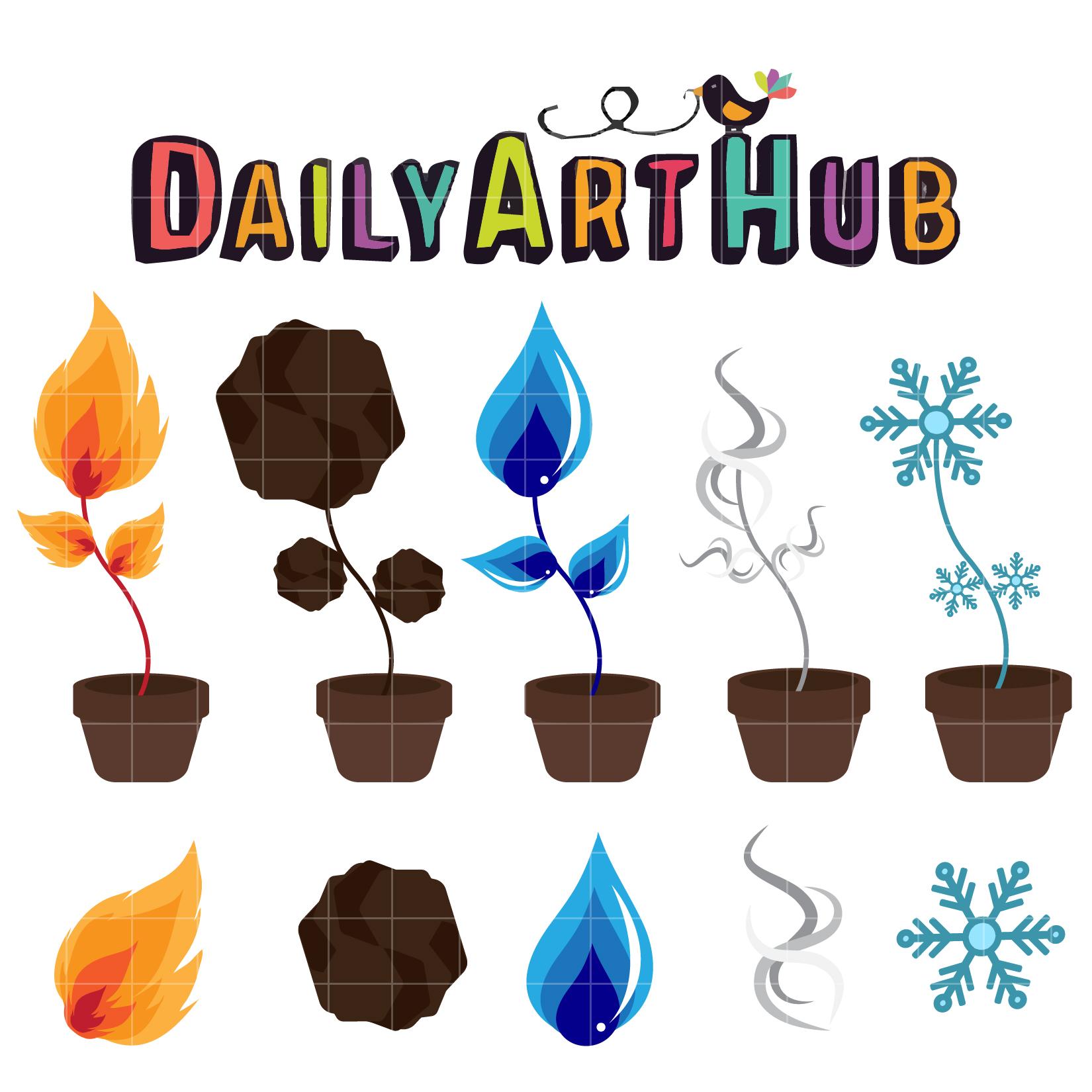 Elemental clipart decorative Hub Clip Daily Elemental Set