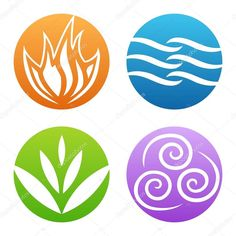 Elemental clipart fire and water On Scrolling and on four