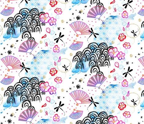 Elemental clipart floral Fabric Rjapgarden_shop_preview Spoonflower Elemental Garden