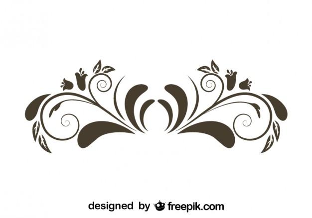 Elemental clipart floral Graphic Element Retro  Flower