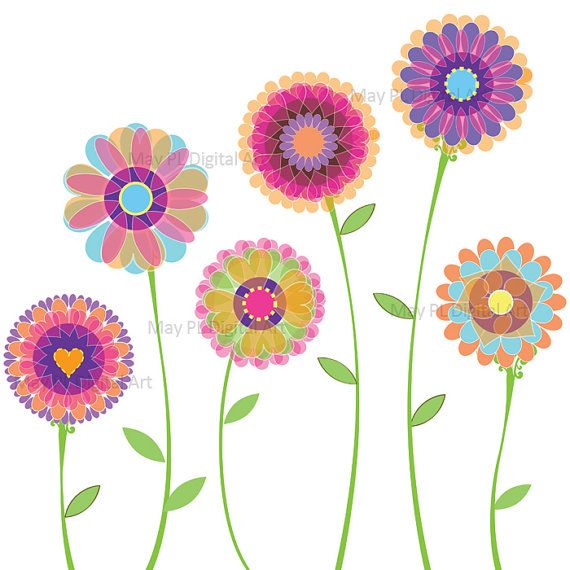 Floral clipart pretty flower Day Digi Art Clip Spring